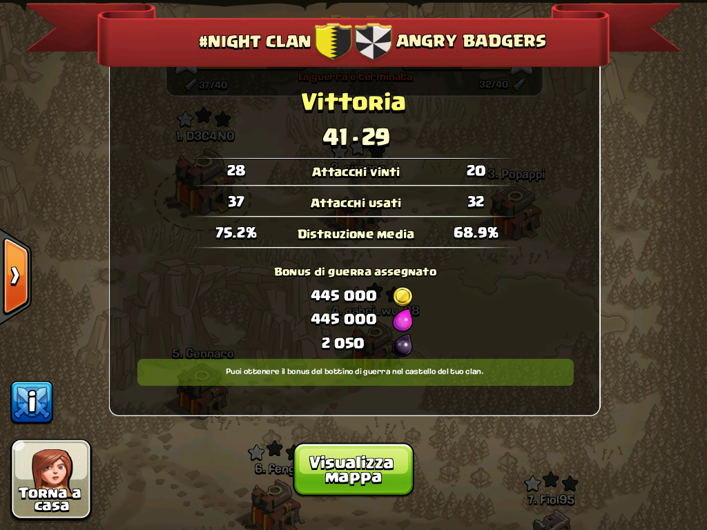 #NIGHT CLAN VS andry badgers