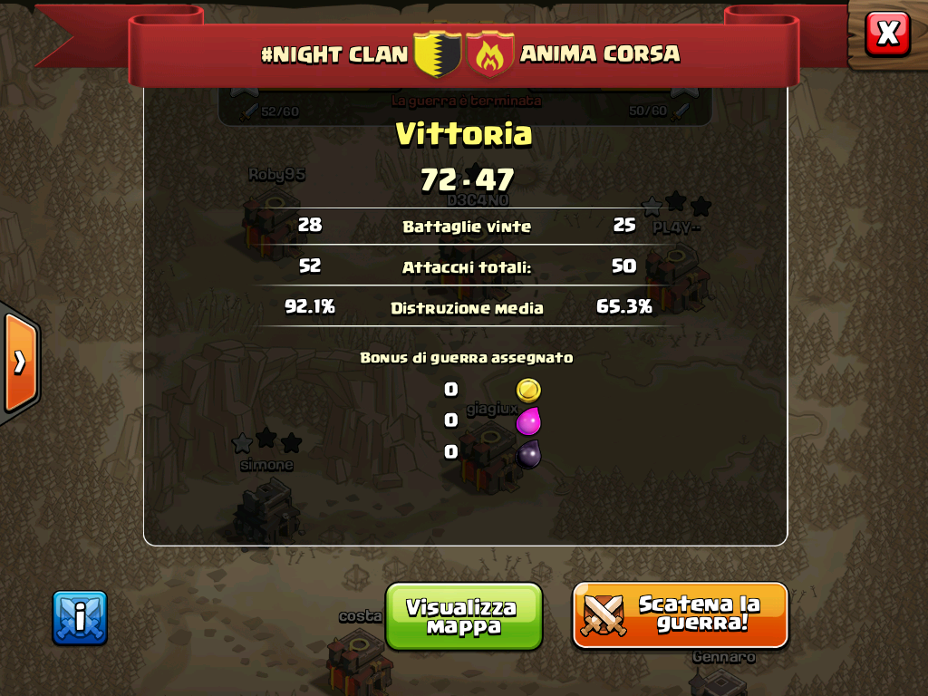 #NIGHT CLAN VS ANIMA CORSA
