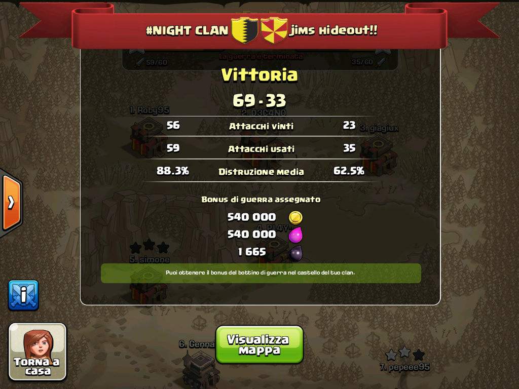 #NIGHT CLAN VS  jims hideout!!