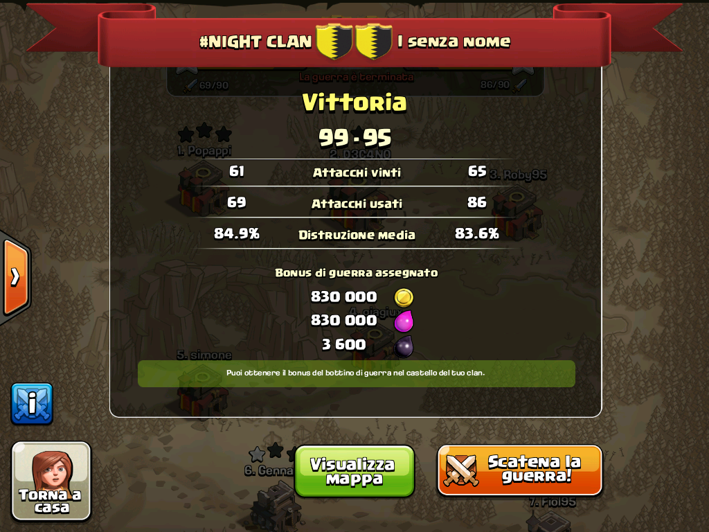 #NIGHT CLAN VS i senza nome