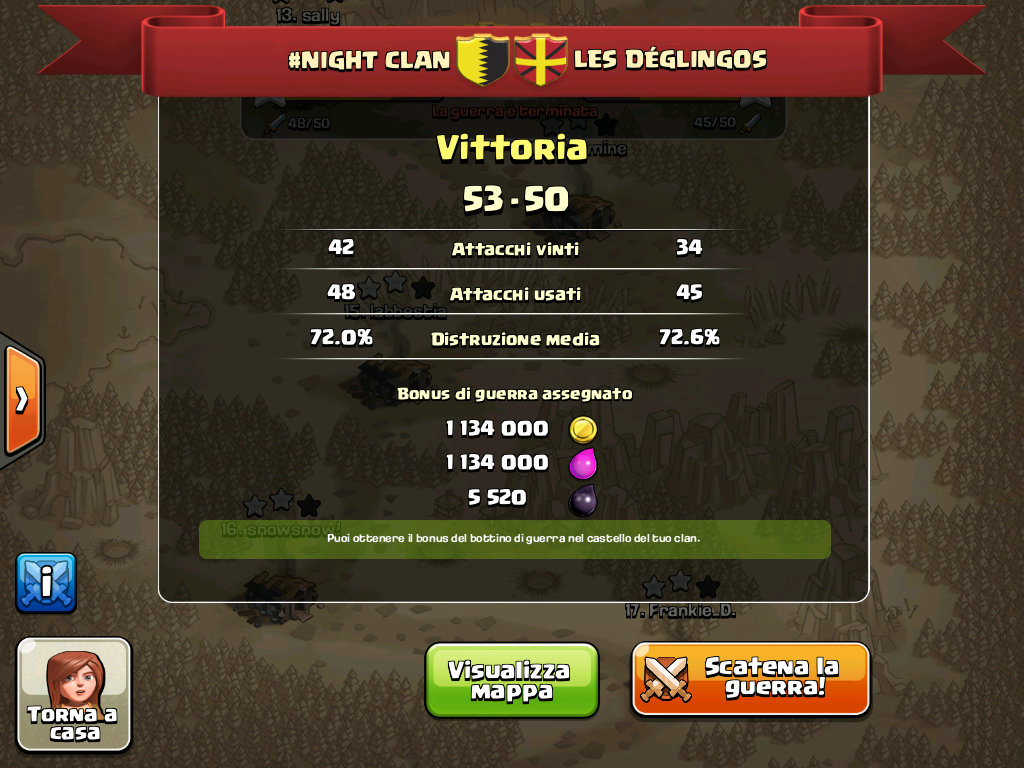 #NIGHT CLAN VS LES DEGLINGOS
