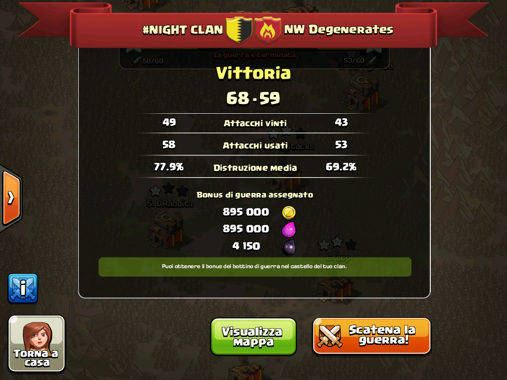 #NIGHT CLAN VS NW Degenerates