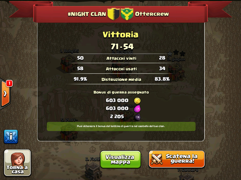 #NIGHT CLAN VS ottercrew