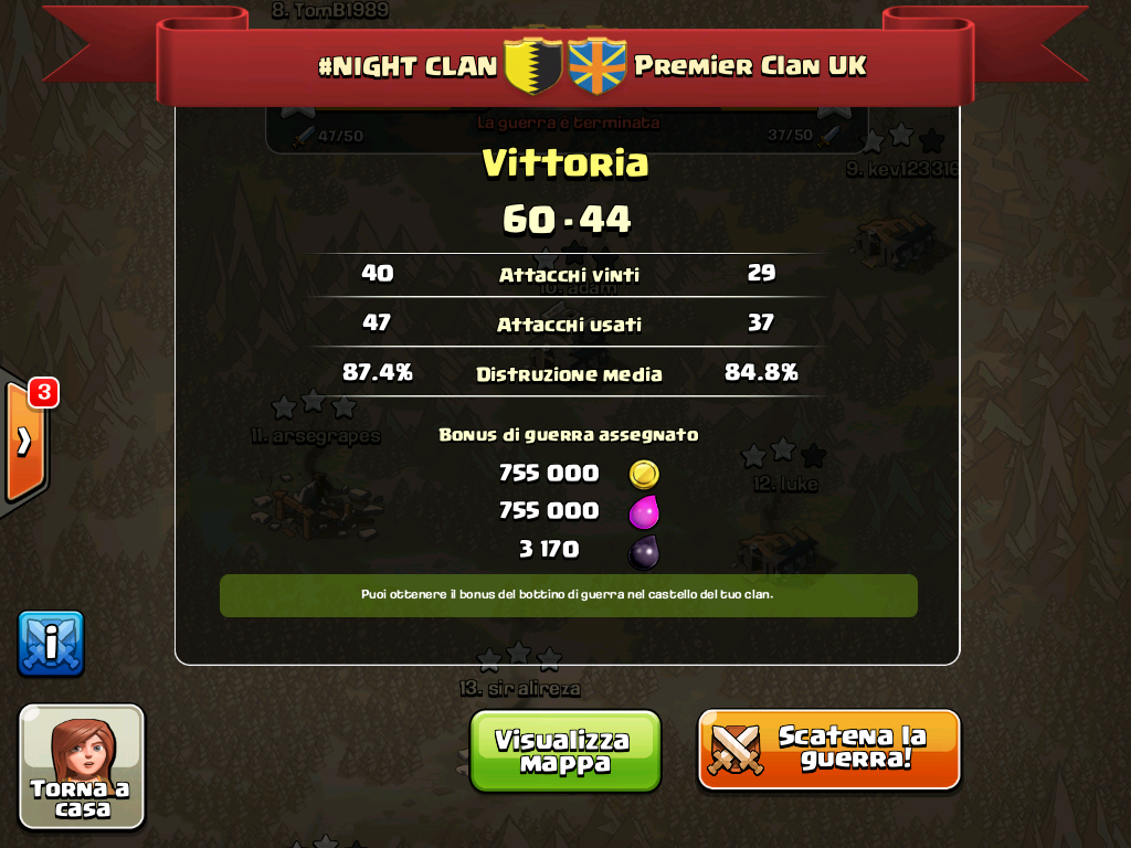 #NIGHT CLAN VS Premier Clan UK