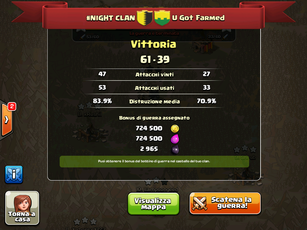 #NIGHT CLAN VS U Got Farmed