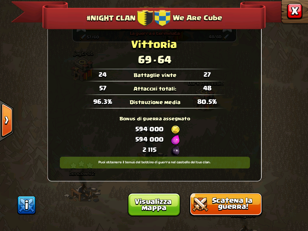 #NIGHT CLAN VS We Are Cube